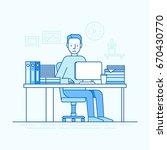 vector illustration in trendy... | Shutterstock .eps vector #670430770