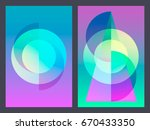 poster with neon flat geometric ... | Shutterstock .eps vector #670433350