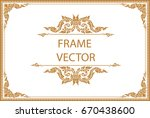 gold border design  frame photo ... | Shutterstock .eps vector #670438600