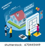 colored augmented reality...   Shutterstock .eps vector #670445449