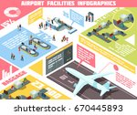 isometric infographics with... | Shutterstock .eps vector #670445893