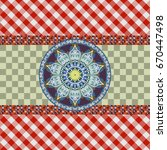 checkered seamless pattern with ... | Shutterstock .eps vector #670447498