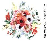 flowers bouquet | Shutterstock . vector #670451029