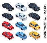 isometric 3d cars.... | Shutterstock .eps vector #670455184
