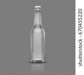 empty transparent beer or water ...   Shutterstock .eps vector #670455220