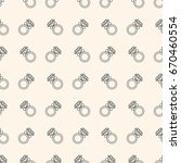 seamless pattern with rings for ... | Shutterstock .eps vector #670460554