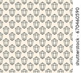 seamless pattern with crystal... | Shutterstock .eps vector #670460590