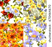 abstract elegance seamless... | Shutterstock .eps vector #670464670
