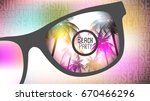 summer beach party flyer design ... | Shutterstock .eps vector #670466296