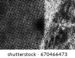 grunge black and white circle... | Shutterstock . vector #670466473