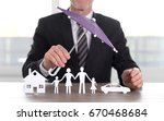 general agent protecting a...   Shutterstock . vector #670468684