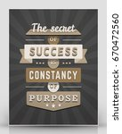 vintage inspirational and... | Shutterstock .eps vector #670472560