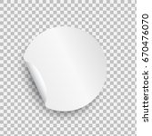 round paper sticker template... | Shutterstock .eps vector #670476070