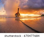 traditional thai boats at... | Shutterstock . vector #670477684