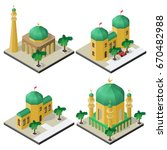 set of oriental isometric... | Shutterstock .eps vector #670482988