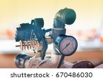 water supply system. hydraulic... | Shutterstock . vector #670486030