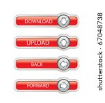 web button set | Shutterstock .eps vector #67048738