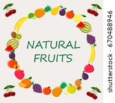 delicious and sweet fruits ... | Shutterstock .eps vector #670488946