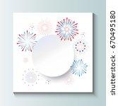 fireworks  stars  confetti... | Shutterstock .eps vector #670495180
