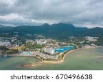 panoramic aerial view of sai... | Shutterstock . vector #670496638