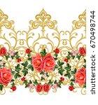 garland  bouquet of delicate... | Shutterstock . vector #670498744