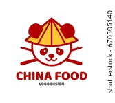 china food panda and chopsticks ... | Shutterstock .eps vector #670505140