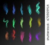 colorful smoke on black... | Shutterstock .eps vector #670505914