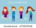 colored sickness child retro... | Shutterstock .eps vector #670505968