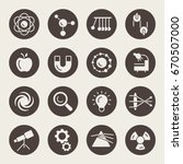 physics vector icon set | Shutterstock .eps vector #670507000
