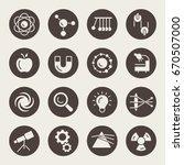 physics vector icon set | Shutterstock .eps vector #670507000