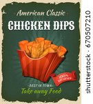 retro fast food chicken dips... | Shutterstock .eps vector #670507210