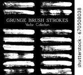 vector black paint brush spots  ... | Shutterstock .eps vector #670508038