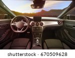 console panel of the car and... | Shutterstock . vector #670509628