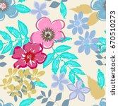 abstract flower seamless... | Shutterstock .eps vector #670510273