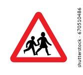 uk children sign | Shutterstock .eps vector #670510486