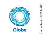 vector logo globe | Shutterstock .eps vector #670514980