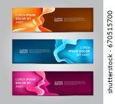 vector abstract design banner... | Shutterstock .eps vector #670515700