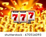 golden slot machine wins the...   Shutterstock .eps vector #670516093