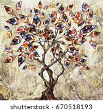 oil painting on canvas ... | Shutterstock . vector #670518193