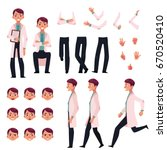 doctor character creation set... | Shutterstock .eps vector #670520410