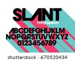 Vector of modern stylized font and alphabet | Shutterstock vector #670520434