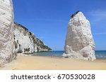 gargano national park in italy  ... | Shutterstock . vector #670530028