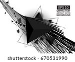 black triangle and line... | Shutterstock .eps vector #670531990