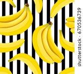 banana seamless pattern vector. ... | Shutterstock .eps vector #670536739