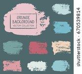 paint daubs  hand drawn brush... | Shutterstock .eps vector #670539814