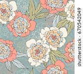 floral seamless pattern with... | Shutterstock .eps vector #670542049