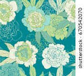 floral seamless pattern with... | Shutterstock .eps vector #670542070