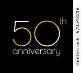 50th anniversary icon. 50 years ... | Shutterstock .eps vector #670543216