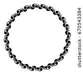black and white silhouette... | Shutterstock . vector #670543384