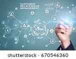 crm. customer relationship...   Shutterstock . vector #670546360